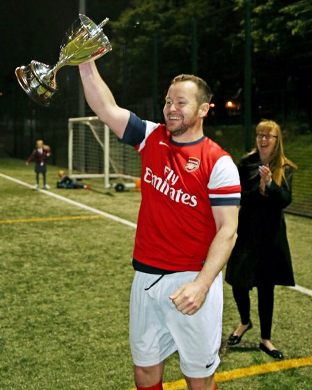 Islington Admiral United completed a treble with victory in the Invitation Cup final (pic Reggie Hag