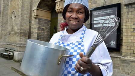 Kemi Buraimoh, catering co-ordinator at The Manna at St Stephen's Church in Canonbury. Picture: Poll