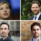 The Islington South and Finsbury candidates, clockwise from left: Emily Thornberry, Jason Charalambo