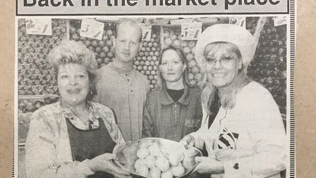 Wendy Richard opens the new Nag's Head Market in 1992.