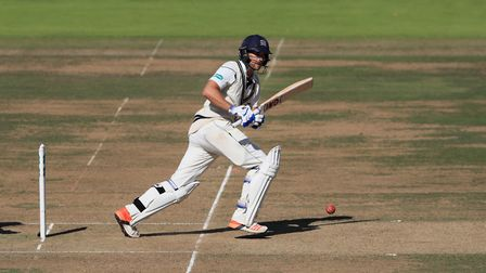 Modest century maker Dawid Malan in batting action for Middlesex (pic: John Walton/PA Images)