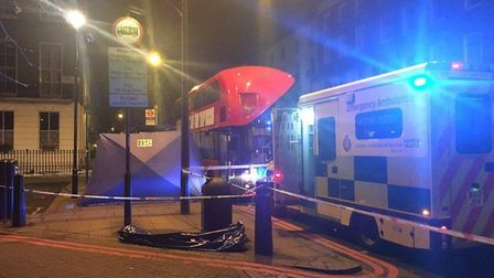 A man, 48, died from a stab wound on the 189 bus. Picture: Metropolitan Police