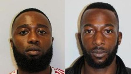 Jailed: L-R, Devlin Williams, 33, of Hirst Crescent, Wembley, and Eugene Williams, 36, of Station Ro
