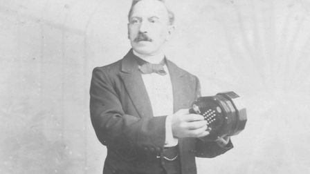 Probably Frederick Charles Nickolds, of Holloway Road, with a Nickolds concertina. Picture: Mike Dur