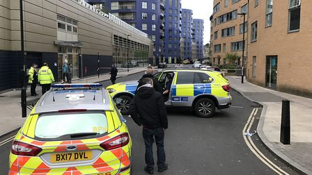 Police were called to Queensland Road, in the shadow of Arsenal's Emirates Stadium, on Friday night