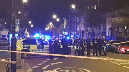 The scene in Essex Road on March 25. Picture: Shulem Stern/Twitter