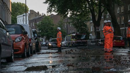Flooding in St John Street on May 24. Picture: Mervyn Rands