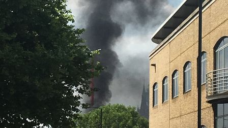 Fire crews were called to Balfe Street just after midday. Picture: Guy Bentley