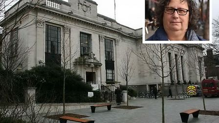 Islington Town Hall and inset former mayor Sandy Marks. Picture: Ken Mears