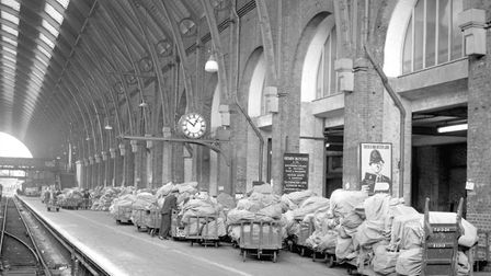 'Imogen' also used to sleep among the mail bags at Euston and King's Cross (pictured) stations rathe
