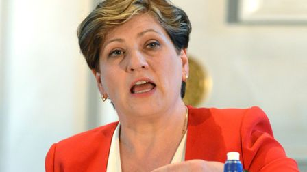 Emily Thornberry at the Gazette hustings for Islington South and Finsbury in St Mary's Church. Pictu