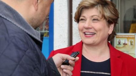 Emily Thornberry is interviewed by Archant journalist Layth Yousif. Picture Danny Loo