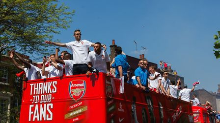 Arsenal has cancelled its FA Cup parade plans. Picture: John Walton/PA