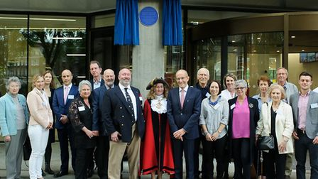 Descendents of Sir Henry Bessemer after a blue plaque was unveiled in his honour at City University.