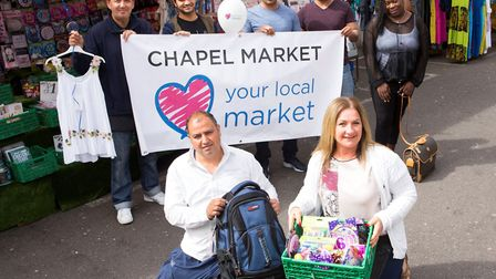 Keeley Maskell, front right, and Jeffrey Heller, back left, help launch Islington's search for its m