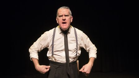 Mikel Murfi in I Hear You and Rejoice at the Tricycle Theatre. Picture: Pat Redmond