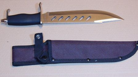 The knife used in the stabbing.