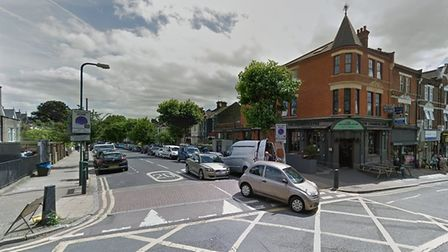A man was taken to hospital after a crash at the junction of Chamberlayne Road and Chevening Road on