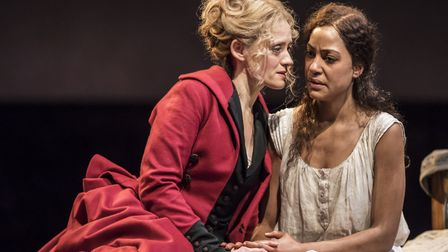 Anne-Marie Duff and Cush Jumbo in Common at the National Theatre. Picture: Johan Persson