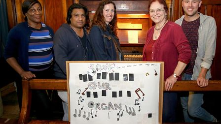 St Thomas the Apostle Church parishioners and organ fundraisers, from left: Cynthia Mapp, Anthony Da