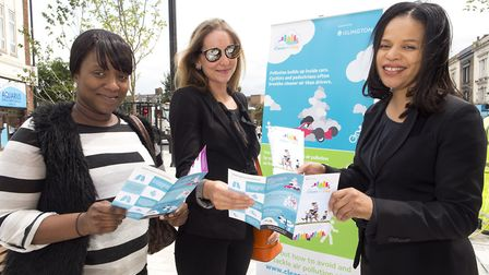 Islington Council, led by Cllr Claudia Webbe, marks the first 'clean air day'. Picture: Steve Bainbr