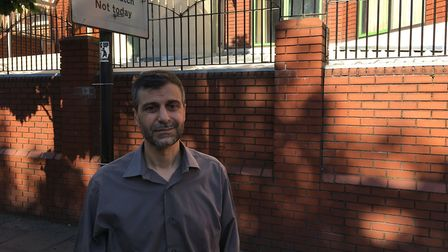 'Shocking for all of us': Finsbury Park Mosque chairman Mohammed Kozbar this morning. Picture: James