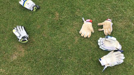 Cricket gloves dry beyond the boundary