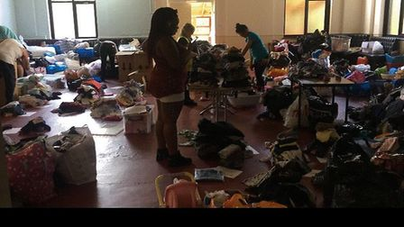 Hundreds of donations were brought to the Willesden Working Men's Club after the Grenfell Tower infe