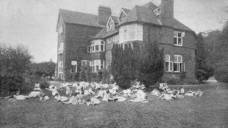 Gisburne House Industrial School for Girls, Watford, in c.1930, which later became Gisburne House Ch