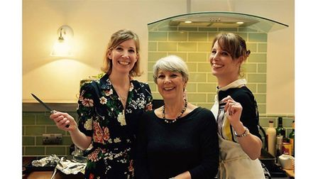 Lucy, Jane and Claire Scott last Christmas.