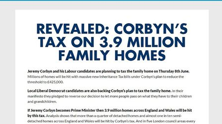 The Conservatives targeted this Facebook dark advert attacking Labour at users in Islington