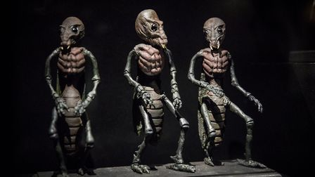 A selection of alien models by Ray Harryhausen. Picture: Tristan Fewings / Getty Images