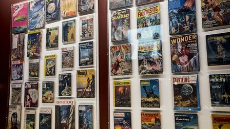 Comic books display. Picture: Tristan Fewings/Getty Images for Barbican Centre