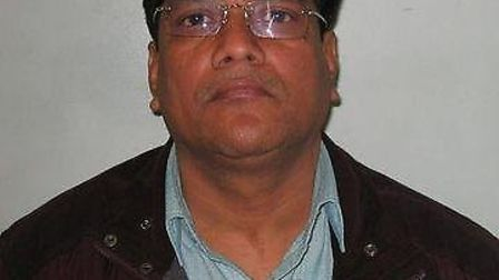 Bhadresh Shah, 49, is on the run with his son