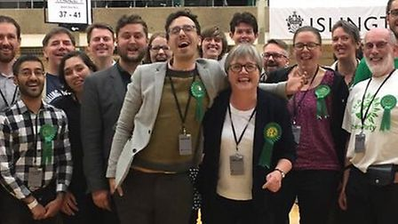 Islington Greens, led by Benali Hamdache and Caroline Russell, saw the positives despite seeing thei
