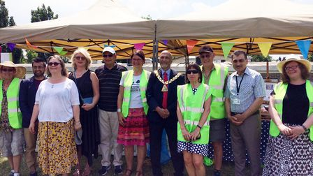 Cllr Bhagwanji Choha, Mayor of Brent, joined the Friends of Gladstone Park and The Friends of Crick