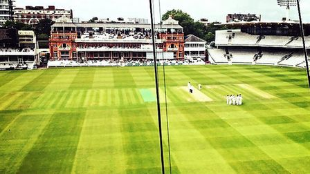A view of Lord's Cricket Ground from the media centre (pic Layth Yousif)