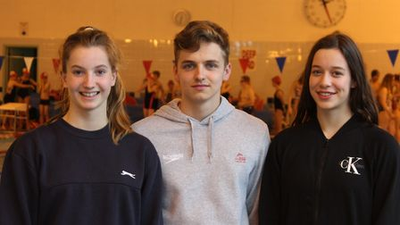 Anaconda Swimming Club's Alice Hockey, Tommy Donovan and Elena Dewhurst are competing in National Ch