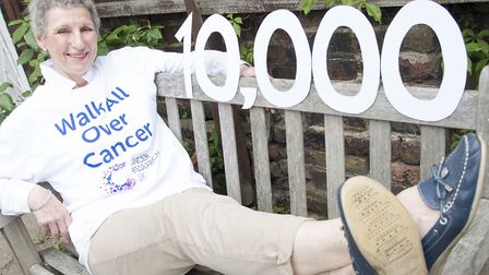 Breast cancer survivor Clare Gray is encouraging people to walk 10,000 steps a day in June and fundr