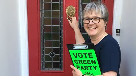 Islington North Green candidate Caroline Russell canvassing in Calabria Road, Highbury. Picture: Jam