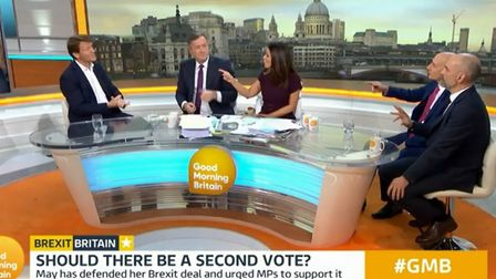 Richard Tice is accused of being a 'loser' for being unhappy with Brexit on Good Morning Britain (Ph