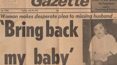 Islington Gazette front page from July 1973.