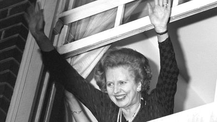 Margaret Thatcher after winning the 1983 general election - when Jeremy Corbyn was elected Islington