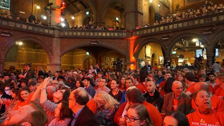 Islington's Union Chapel was packed to its 800 capacity at Jeremy Corbyn's homecoming rally. Picture