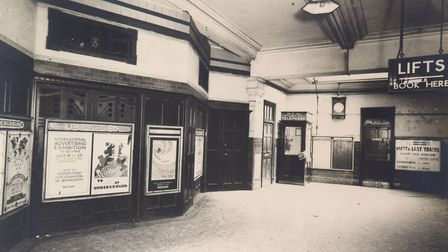 York Road station's booking hall, pictured in 1915. Picture: Transport for London