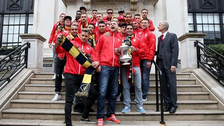 The most recent Arsenal trophy parade was in 2015, after the first team, pictured on the Islington T