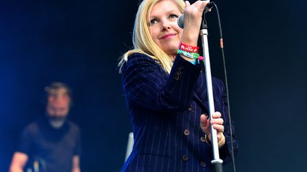 Sarah Cracknell of Saint Etienne performing at Glastonbury 2016. Picture: Ben Birchall/PA Archive