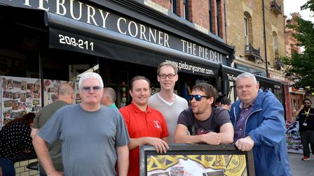 OpAa 2017: Organisers outside Piebury Corner in Holloway Road on Friday. From left: Paul Campbell, S