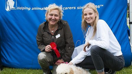 Kirstie Brittain helping to judge the Mayhew's Hounds on the Heath 2016