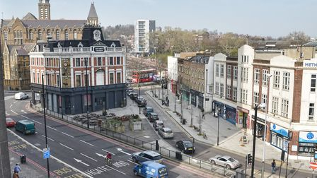 The Archway gyratory before the work. Picture: TfL